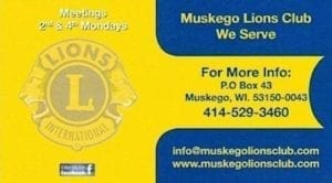 Muskego Lions Club Page