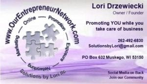 Solutions by Lori llc: Lori Drzewiecki - Our Entrepreneur Network