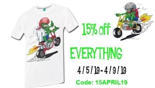 APRIL 5 THRU 9 15 OFF EVERYTHING